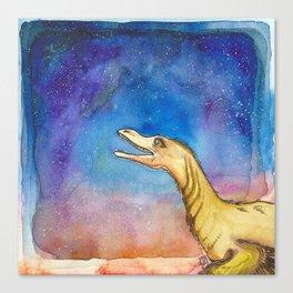 space velociraptor Canvas Print