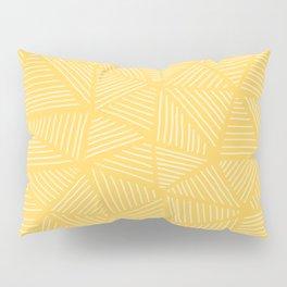 Sunshine Yellow Triangles Drawing Pillow Sham