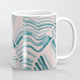 Trippy Turquoise Waves Coffee Mug