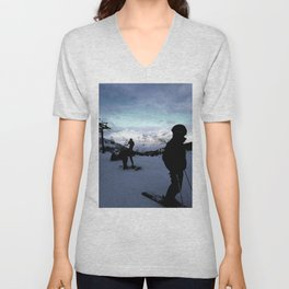 Up here with wonderful views Unisex V-Neck