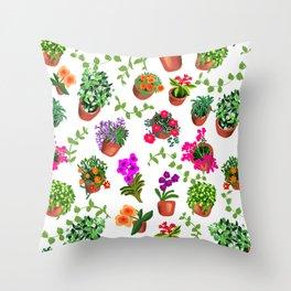 Miami Garden Throw Pillow