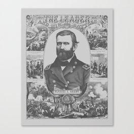 The Leader And His Battles -- Ulysses S. Grant Canvas Print
