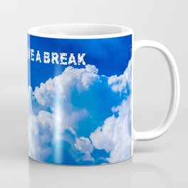White clouds in the blue sky Coffee Mug