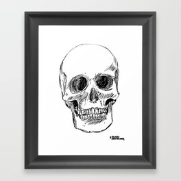 Simple Skull Framed Art Print
