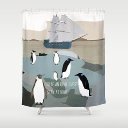 Guests arrive 2 Shower Curtain