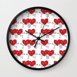 Heart-meow / Illustration / Pattern Wall Clock