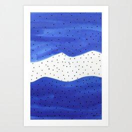 Bright blue series 5 Art Print