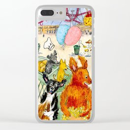 The Dogs Take Over Coney Island Clear iPhone Case
