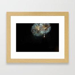 the Fireworks Framed Art Print