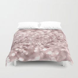 Sparkling Rose Gold Blush Glitter #1 #shiny #decor #art #society6 Duvet Cover
