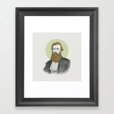 Blue Eyes, Red Beard, Gray Suit Framed Art Print
