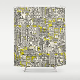 Hong Kong toile de jouy chartreuse Shower Curtain