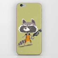 rocket raccoon iPhone & iPod Skins featuring Rocket Raccoon by Rod Perich