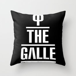 P the GALLE Throw Pillow