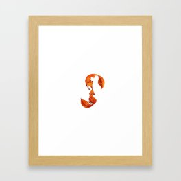 Kissing foxes Framed Art Print