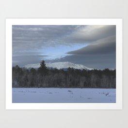 Snowy Katahdin Art Print