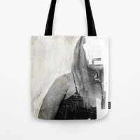 number Tote Bags featuring Faceless | number 03 by FAMOUS WHEN DEAD
