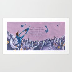 POEM OF FLING Art Print