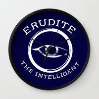 divergent Wall Clocks featuring Divergent - Erudite The Intelligent by Lunil