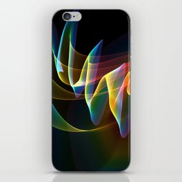 Northern Lights, Abstract Fractal Rainbow Aurora iPhone Skin