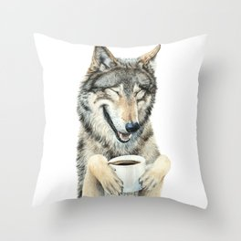 Coffee in the Moonlight Throw Pillow
