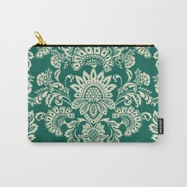 Damask vintage in green Carry-All Pouch