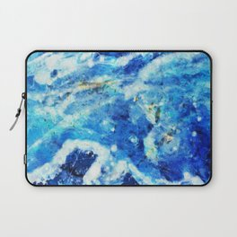 Blue and gold marble texture Laptop Sleeve