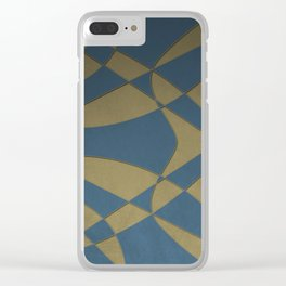 Wings and Sails - Blue and Beige Clear iPhone Case