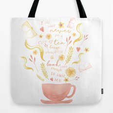 Hard To Find Books And Tea Tote Bag