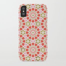 Persian Mosaic – Coral & Gold Palette iPhone Case