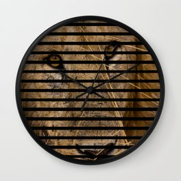This is quite obviously a lion. Wall Clock