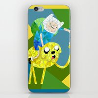 finn and jake iPhone & iPod Skins featuring Jake and Finn by victorygarlic - Niki