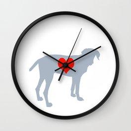 Weim Love Wall Clock