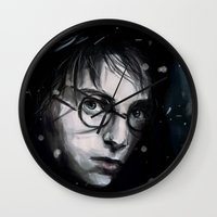 harry Wall Clocks featuring Harry by LucioL