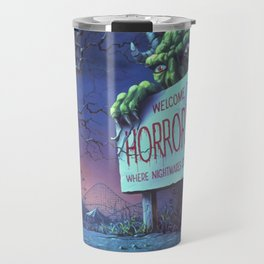 One Day at Horrorland Travel Mug