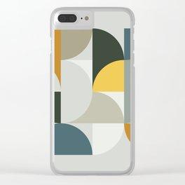 Mid Century Geometric 13 Clear iPhone Case