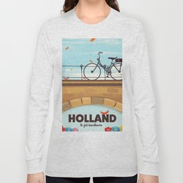 Holland Bicycle travel poster Long Sleeve T-shirt
