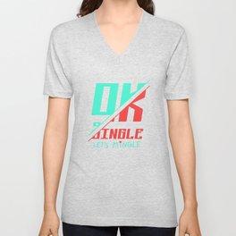 Ok Single Let's Mingle Unisex V-Neck