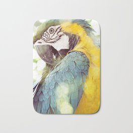 Magical Parrot - Guacamaya Variopinta - Magical Realism Bath Mat
