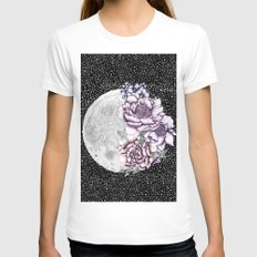 Moon Abloom II Womens Fitted Tee White X-LARGE