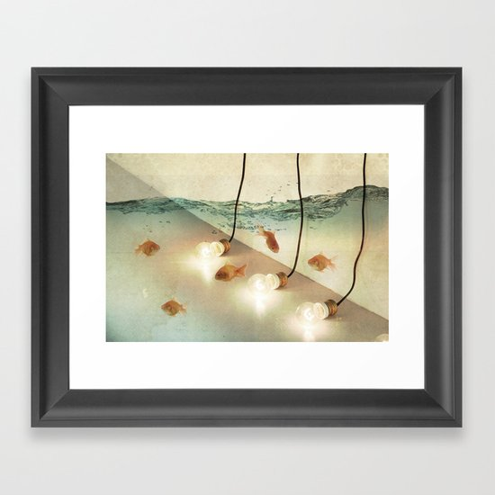 ideas and goldfish Framed Art Print