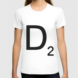 Letter D - Custom Scrabble Letter Wall Art - Scrabble D T-shirt
