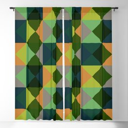 Oiwa - Colorful Green Decorative Abstract Art Pattern Blackout Curtain