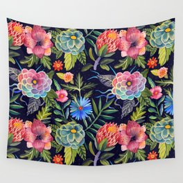 Cosmic Florals Wall Tapestry
