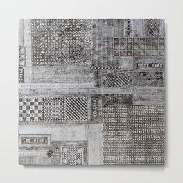 Metallic Patchwork Metal Print