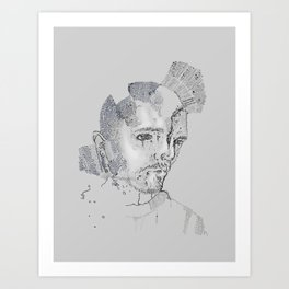 Face Map Art Print