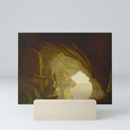 Joseph Wright of Derby - A Grotto in the Gulf of Salerno, Sunset Mini Art Print