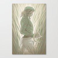 jjba Canvas Prints featuring Diego Brando - Steel Ball Run - JJBA by A.D. Bravo