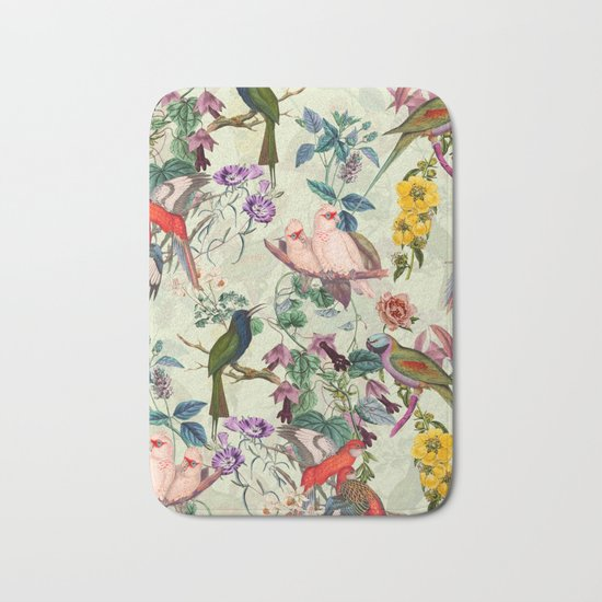 Floral and Birds VIII Bath Mat