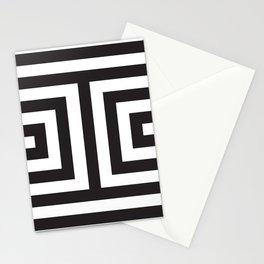 Black Greek Stripes Stationery Cards
